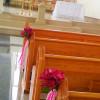 Pink Ribbon Pew Decor